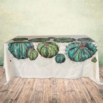 tovaglia mistolino cactus - la bottega di casa