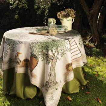 tablecloth olive tree
