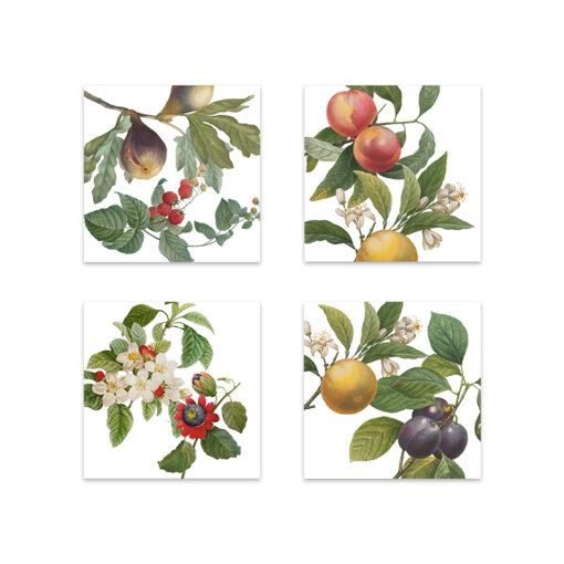set di 4 tovaglioli fruit love - La Bottega di Casa