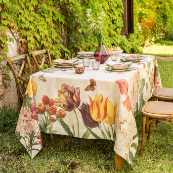 Linen Tablecloth Garden Eden- La Bottega di Casa