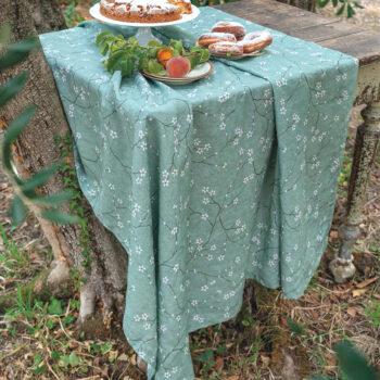 Tovaglia Canapa Tofuku verde - La Bottega di Casa